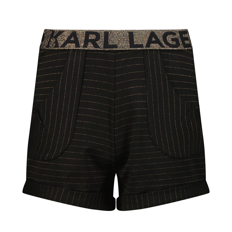 Afbeelding van Karl Lagerfeld Z14160 kinder shorts zwart