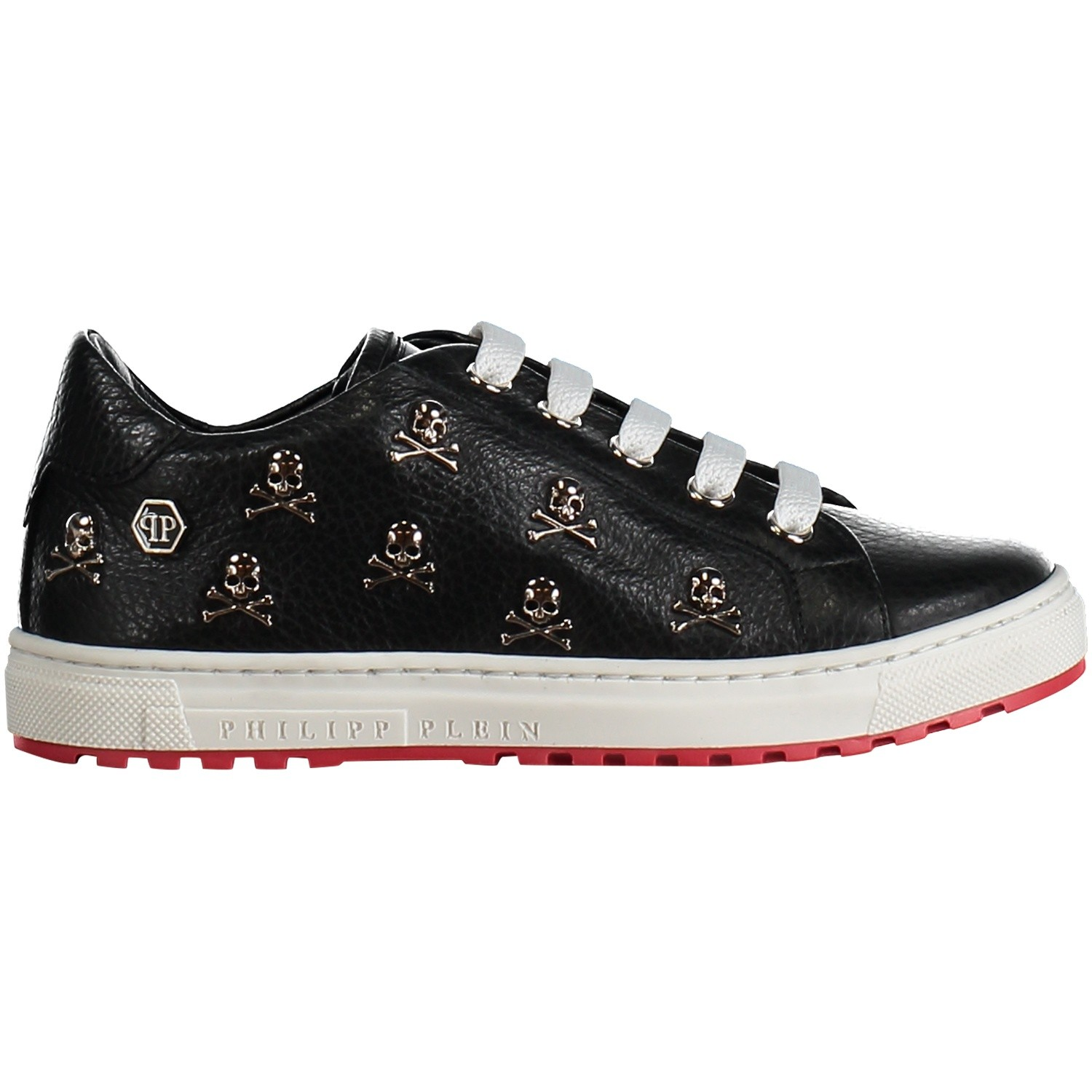 Picture of Philipp Plein BSC0054 kids sneakers black