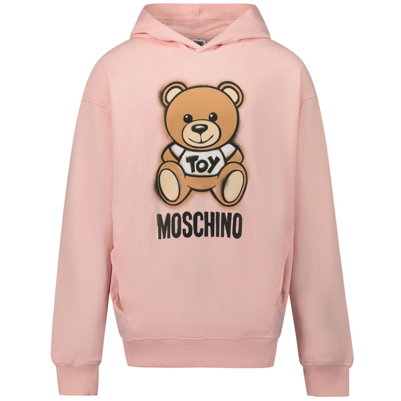 Afbeelding van Moschino HNF03X kindertrui licht roze