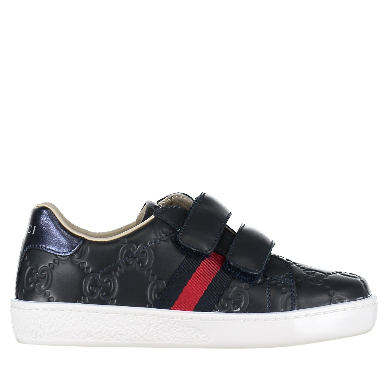 Afbeelding van Gucci 455447 DF720 kindersneakers navy
