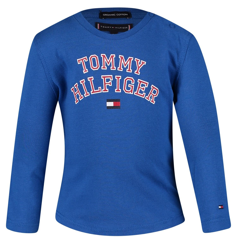 Afbeelding van Tommy Hilfiger KB0KB04432B baby t-shirt cobalt blauw