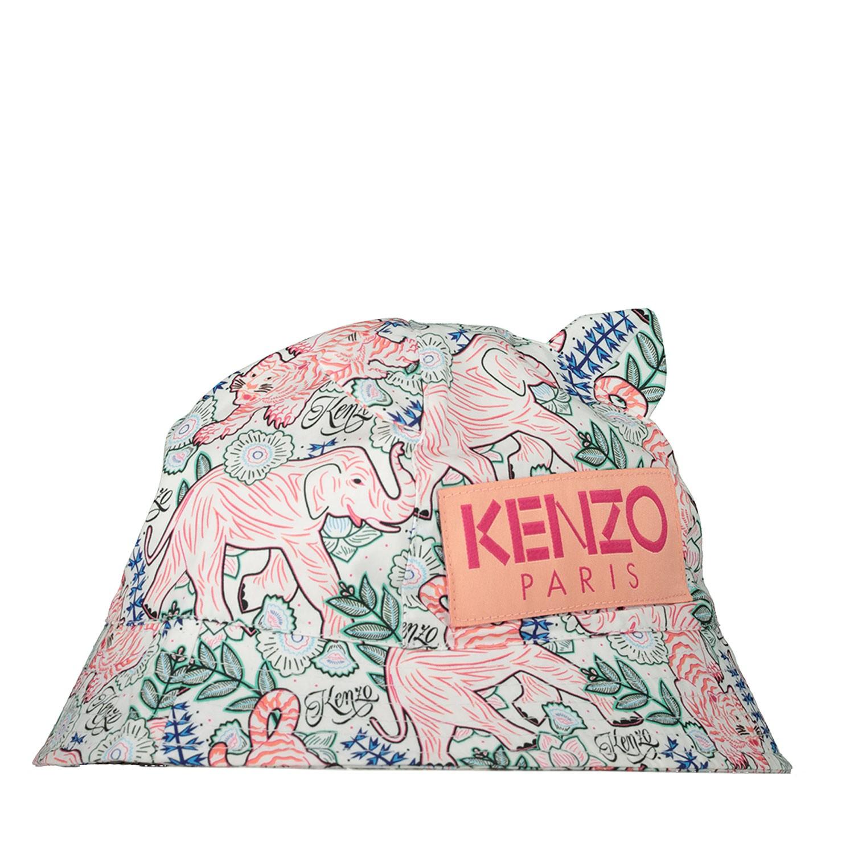 Afbeelding van Kenzo 90007 baby hoedje wit