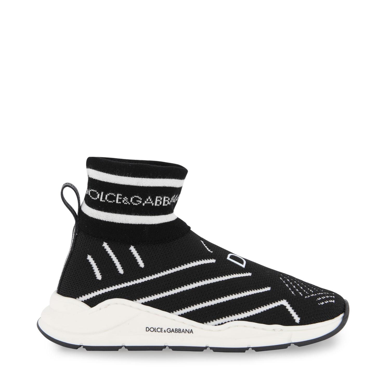 Afbeelding van Dolce & Gabbana DA0943 AK472 kindersneakers zwart/wit