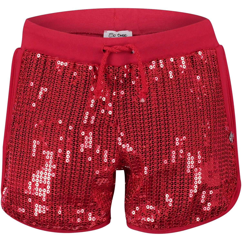Afbeelding van Miss Grant 62313876 kinder shorts rood