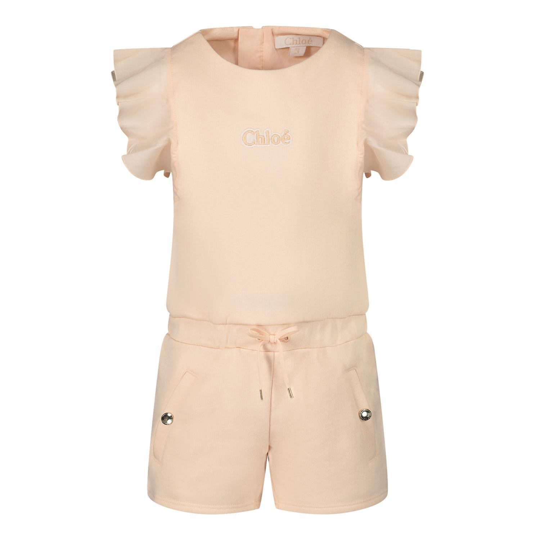 Afbeelding van Chloé C04181 baby jumpsuit zalm