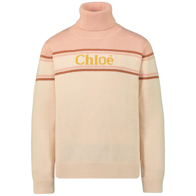 Afbeelding van Chloé C15A78 kindertrui licht roze