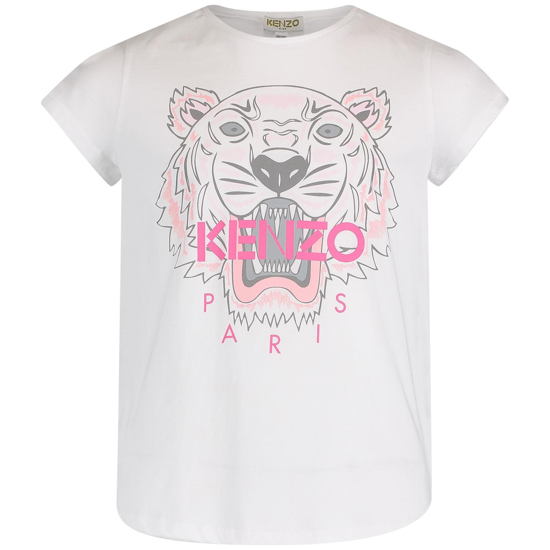 Afbeelding van Kenzo KN10168 kinder t-shirt wit