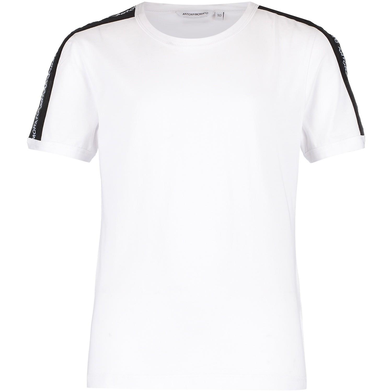 Afbeelding van Antony Morato MKKS00354 kinder t-shirt wit