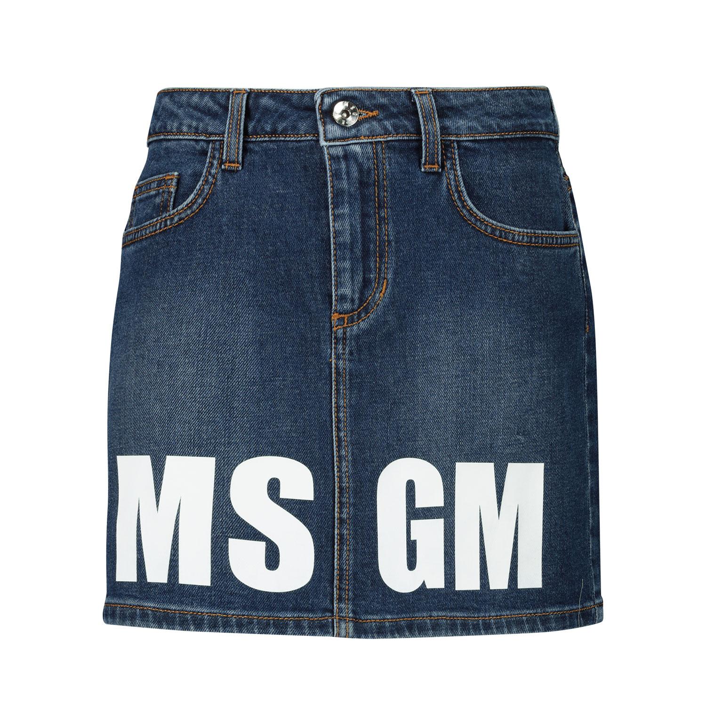 Afbeelding van MSGM 25210 kinderrokje jeans
