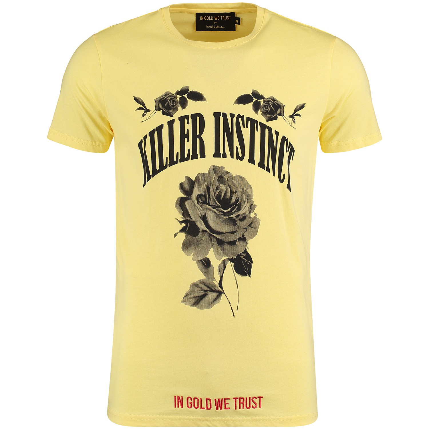 Picture of in Gold We Trust FA070 mens t-shirt yellow