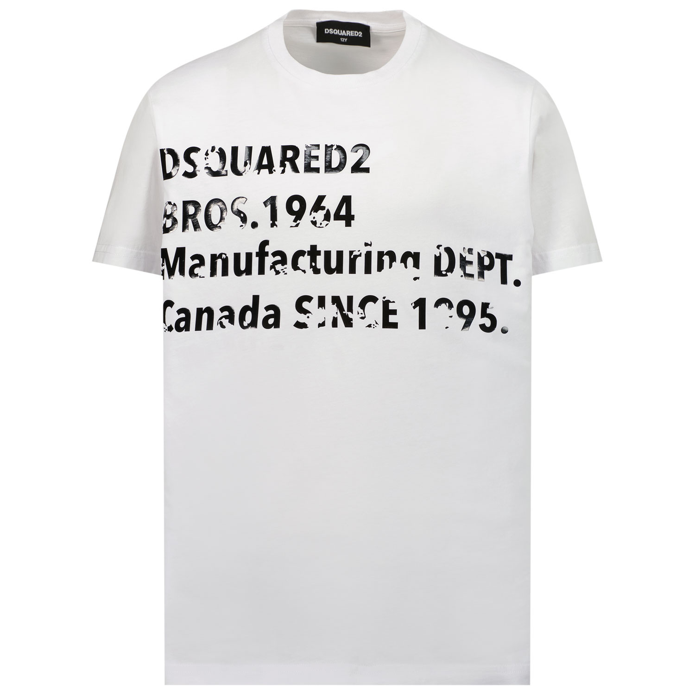 Afbeelding van Dsquared2 DQ0149 kinder t-shirt wit