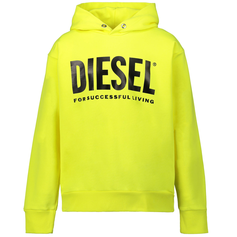 Afbeelding van Diesel 00J4PP kindertrui fluor geel