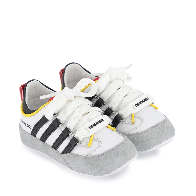Afbeelding van Dsquared2 66953 babysneakers wit/zwart