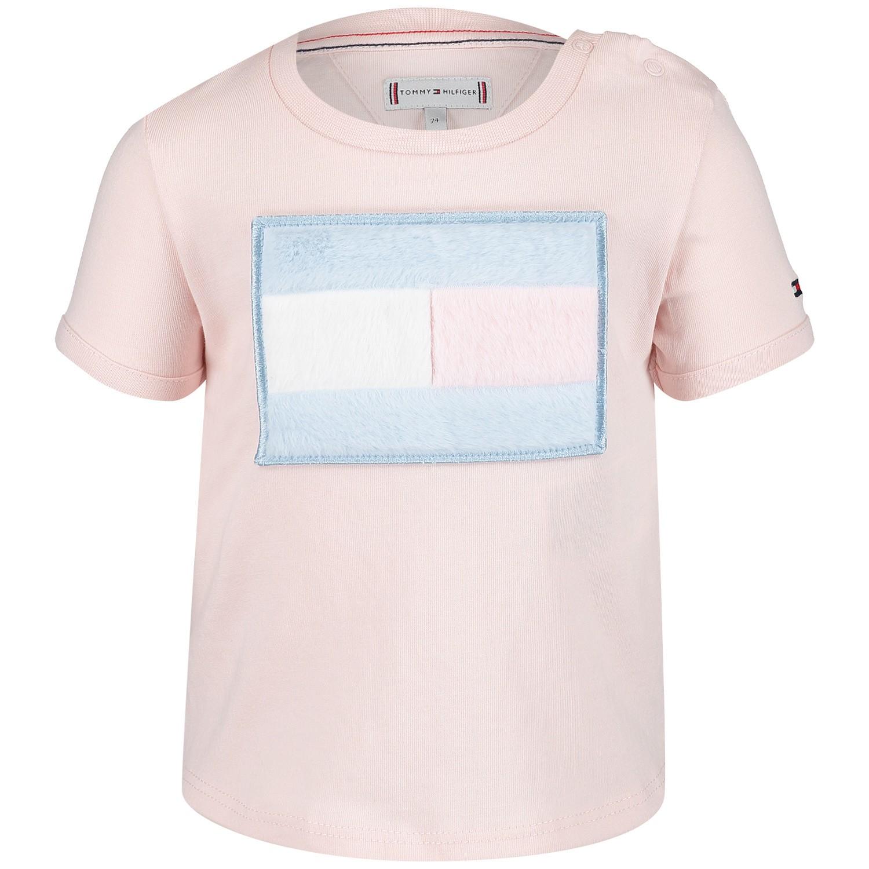 Afbeelding van Tommy Hilfiger KG0KG04082B baby t-shirt licht roze