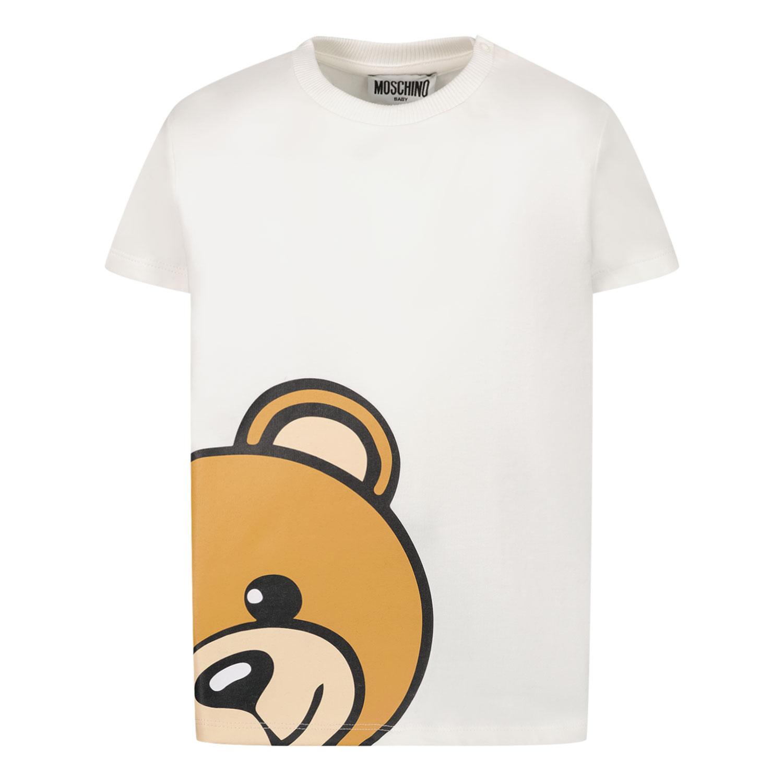 Afbeelding van Moschino M9M02A baby t-shirt wit