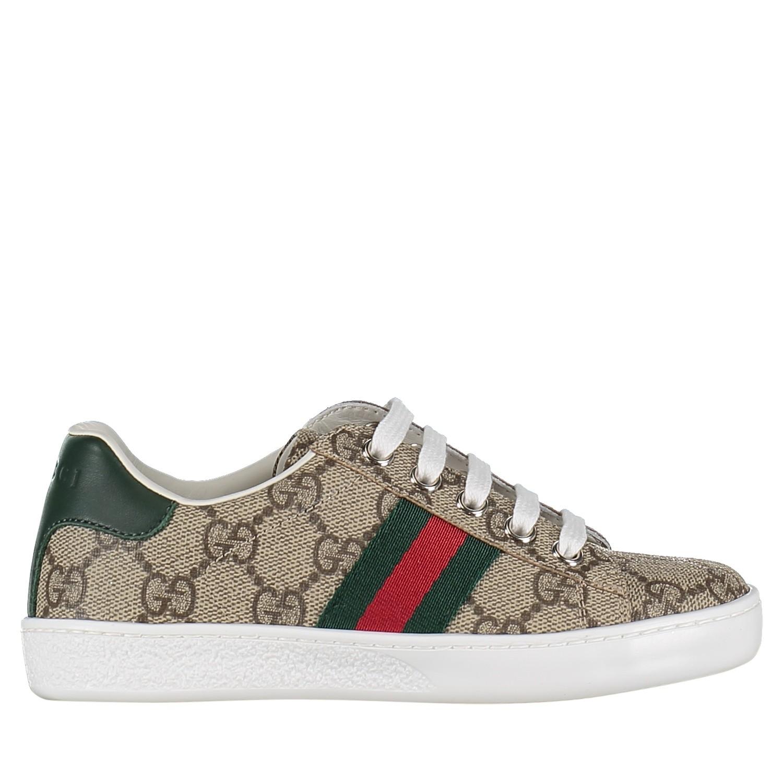 Afbeelding van Gucci 433149 9C210 kindersneakers bruin
