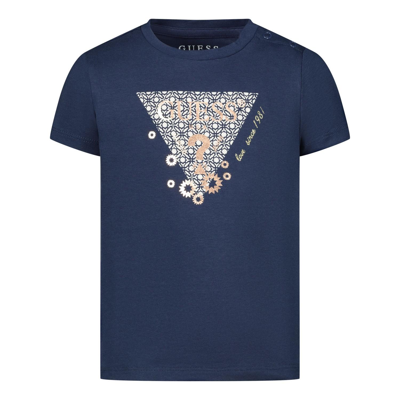 Afbeelding van Guess K02I00 baby t-shirt navy