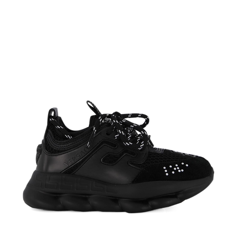 Afbeelding van Versace YHX00001 kindersneakers zwart