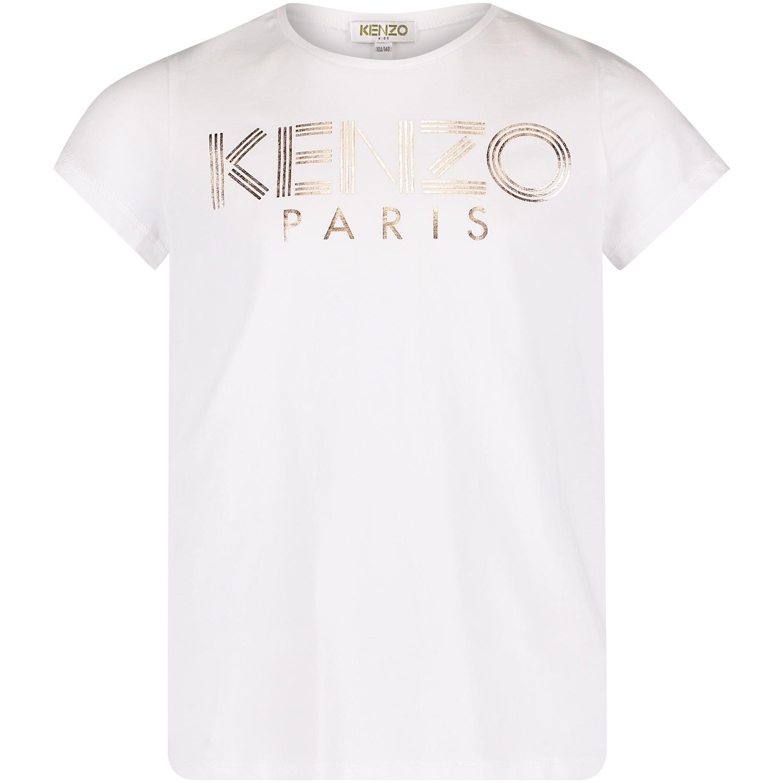 Afbeelding van Kenzo KM10008 kinder t-shirt wit