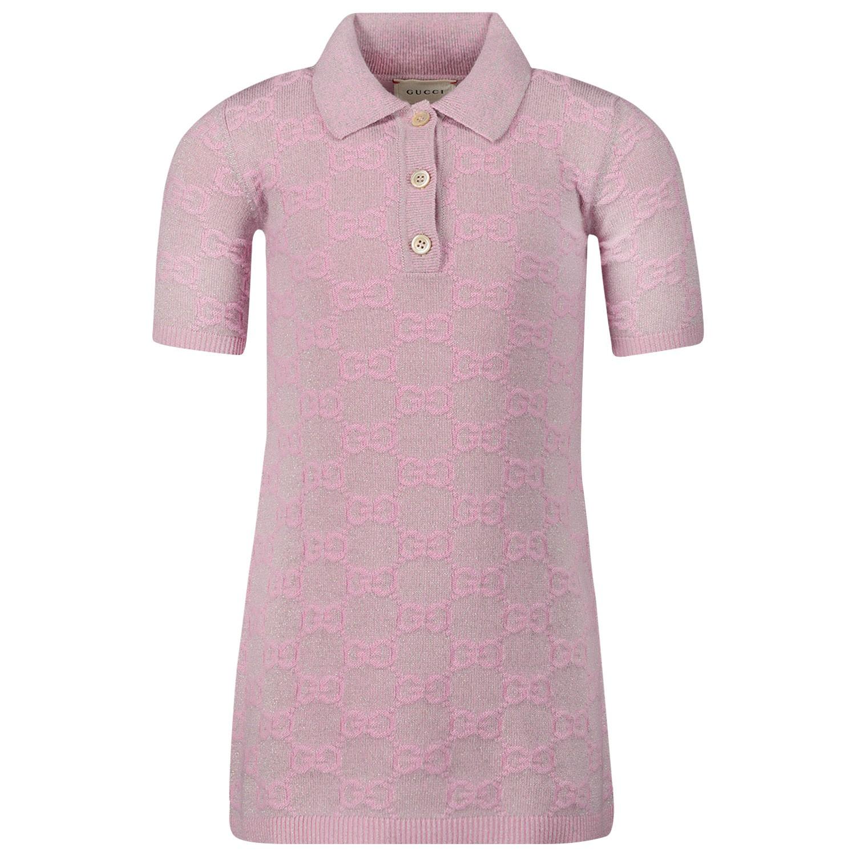 Afbeelding van Gucci 603472 kinderjurk roze