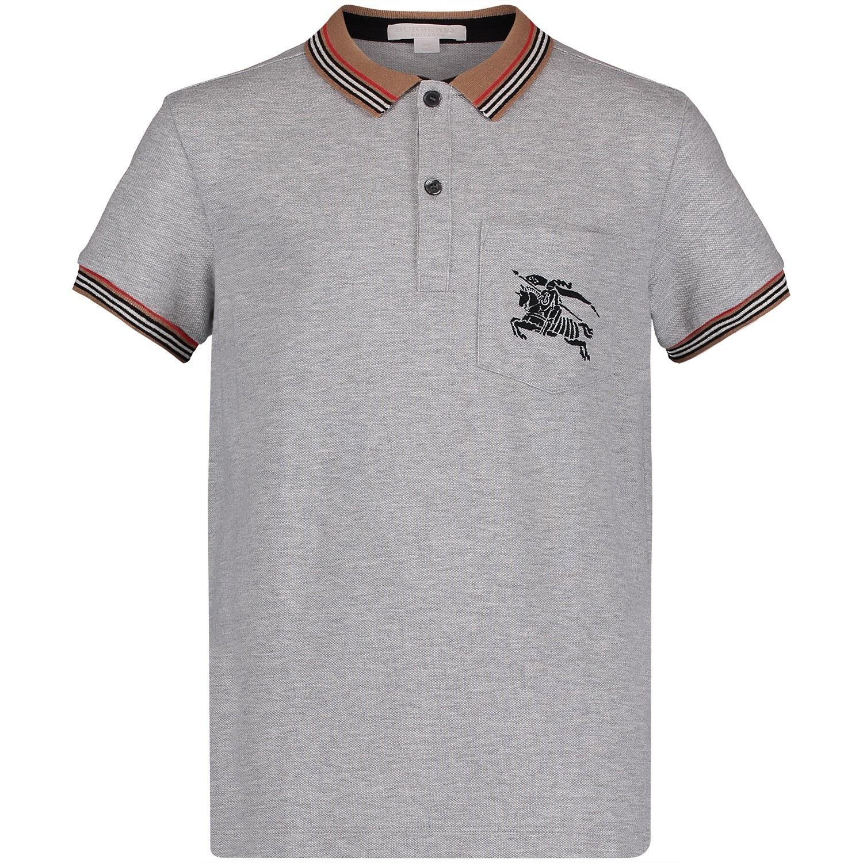 Picture of Burberry 8002002 kids polo shirt grey 7e1288318e