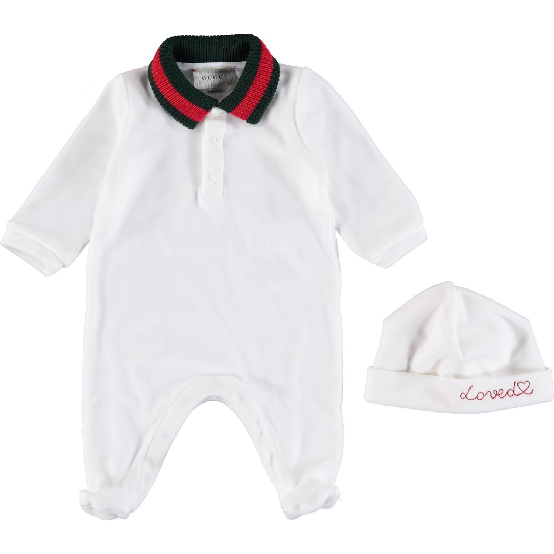 Afbeelding van Gucci 516324 babysetje wit