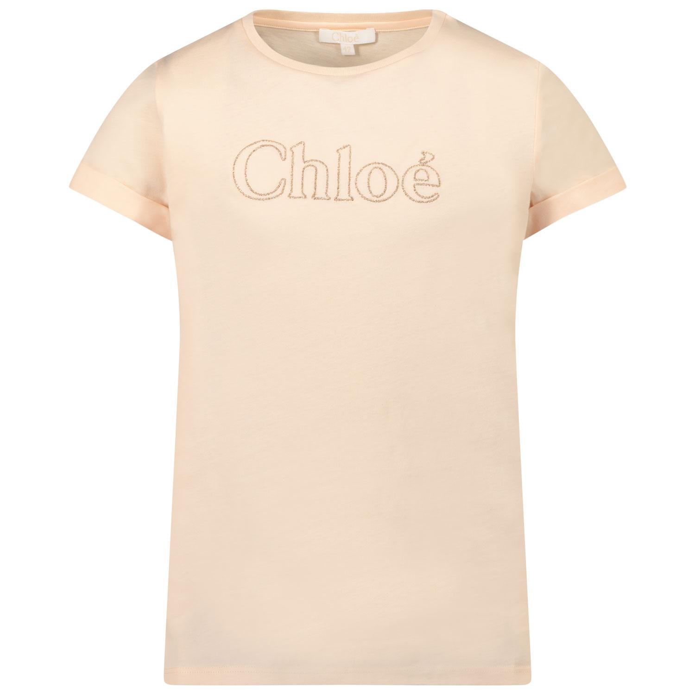 Afbeelding van Chloé C15B84 kinder t-shirt zalm