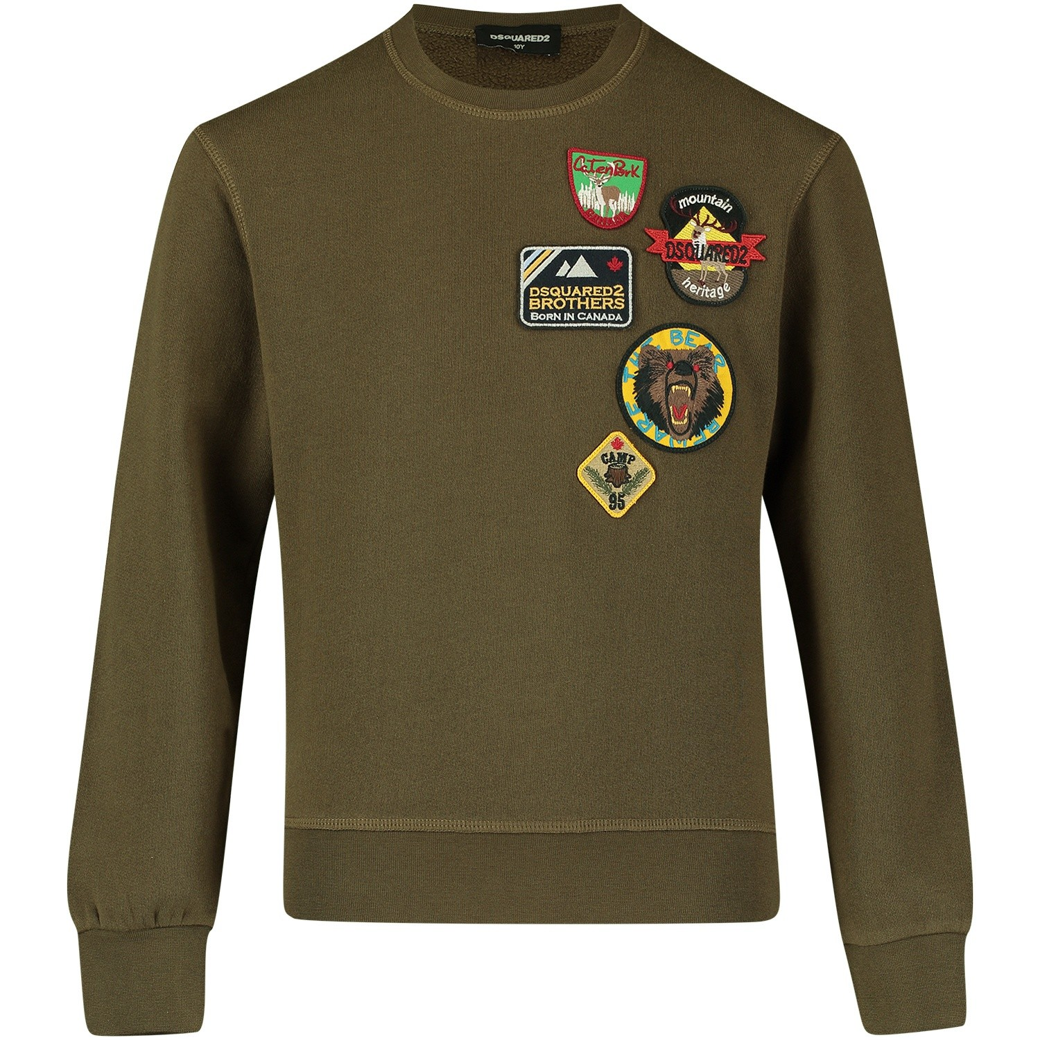 Afbeelding van Dsquared2 DQ02VY kindertrui army