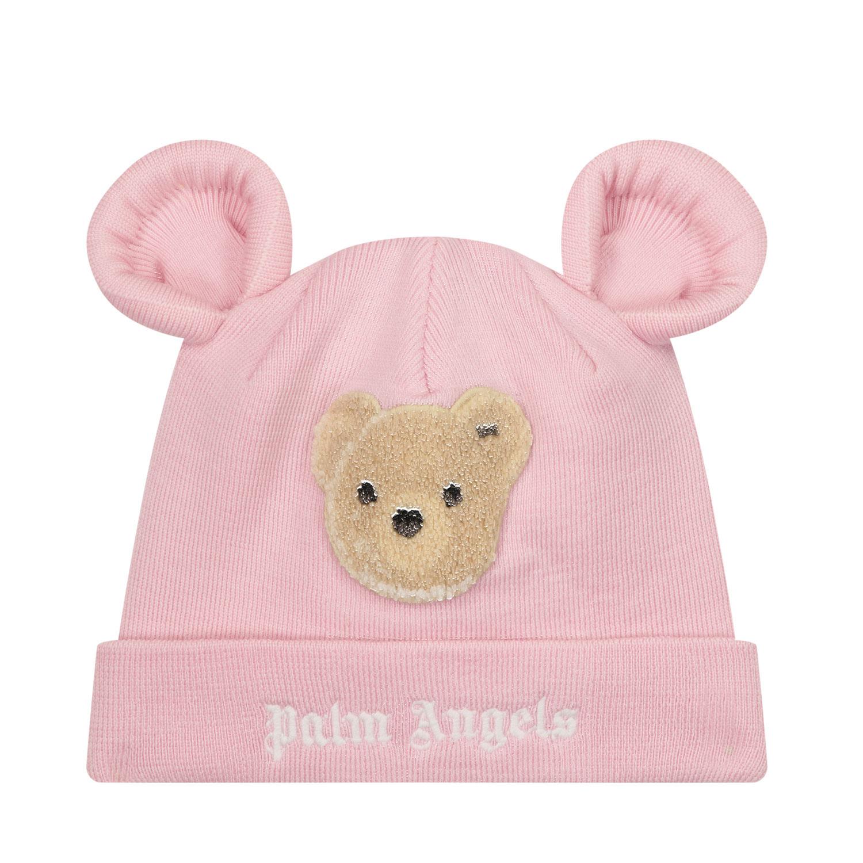 Afbeelding van Palm Angels PGLC002F21KNI001 kindermuts licht roze