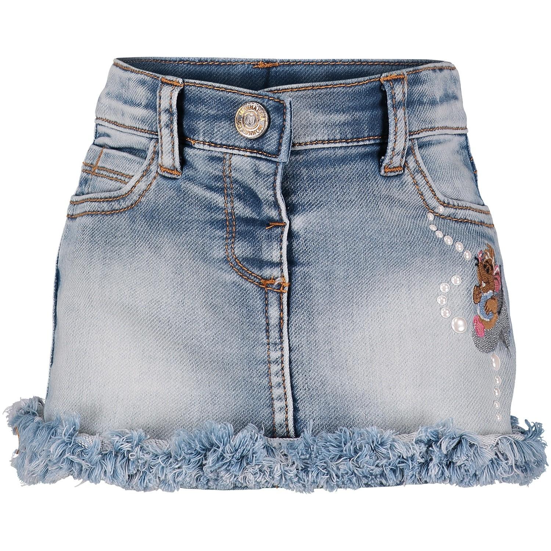 Afbeelding van MonnaLisa 392705 baby rokje jeans