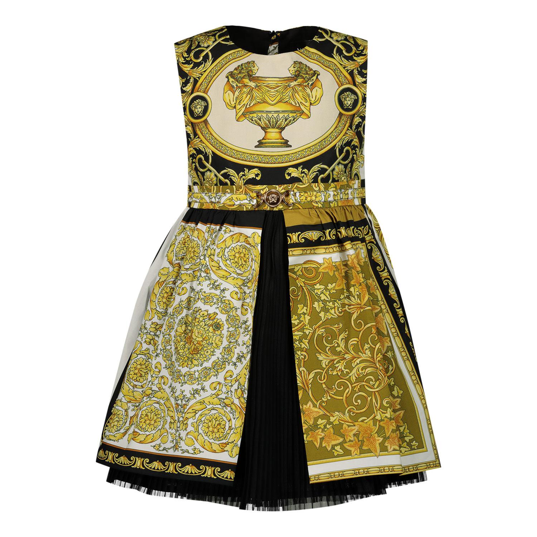 Afbeelding van Versace 1000357 babyjurkje goud/wit
