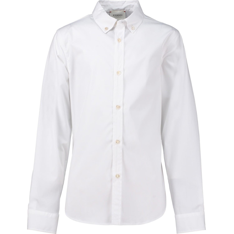 Afbeelding van Gucci 429991 kinder overhemd wit