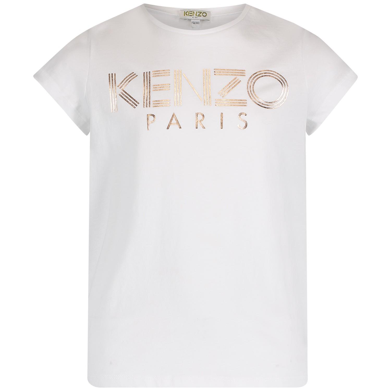 Afbeelding van Kenzo KN10198 kinder t-shirt wit