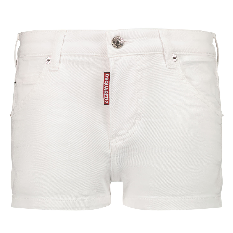 Afbeelding van Dsquared2 DQ0327 kinder shorts wit