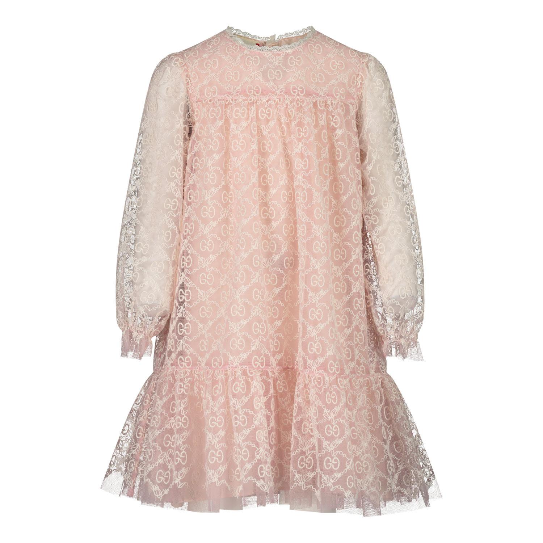 Afbeelding van Gucci 629149 babyjurkje licht roze