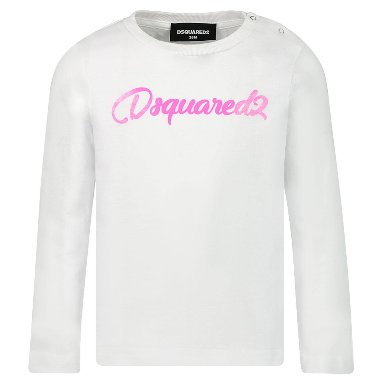 Afbeelding van Dsquared2 DQ03S0 baby t-shirt wit