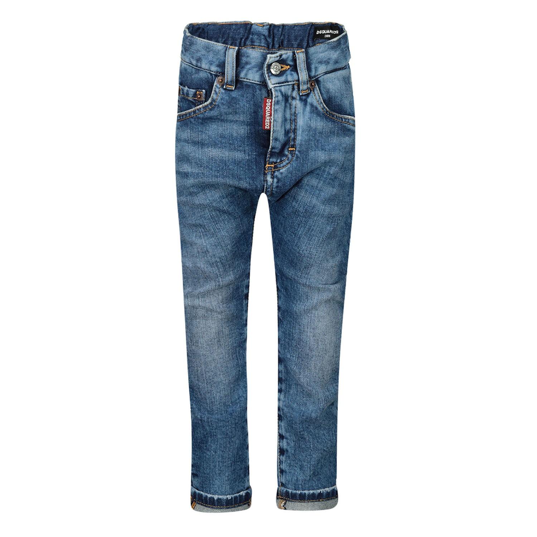 Afbeelding van Dsquared2 DQ01TC D00VT babybroekje jeans