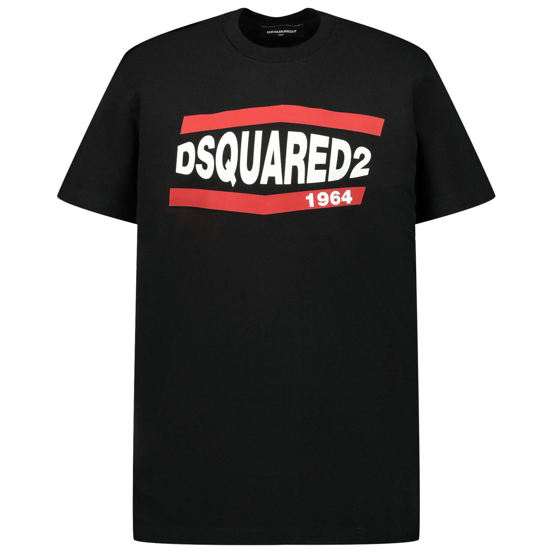Afbeelding van Dsquared2 DQ0150 kinder t-shirt zwart