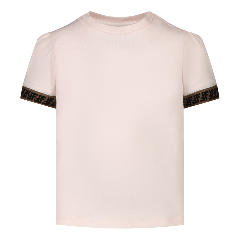 Afbeelding van Fendi BFI117 baby t-shirt licht roze