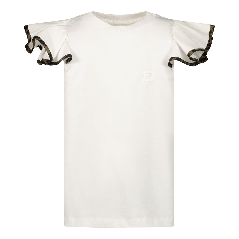 Afbeelding van Fendi JFI200 kinder t-shirt wit