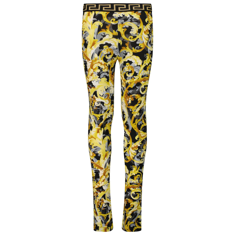 Afbeelding van Versace 1000364 1A01361 kinder legging zwart/goud