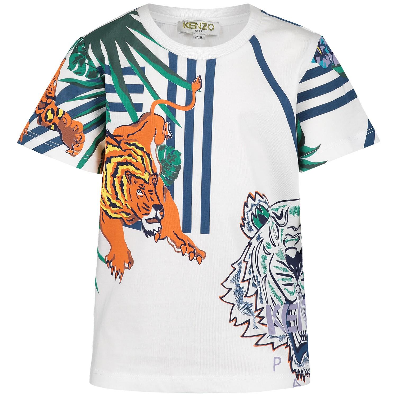 Afbeelding van Kenzo KN10608BB baby t-shirt wit