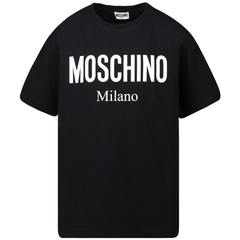Afbeelding van Moschino HPM029 kinder t-shirt zwart