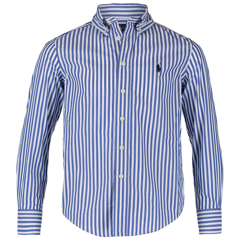 Afbeelding van Ralph Lauren 737245K kinder overhemd blauw