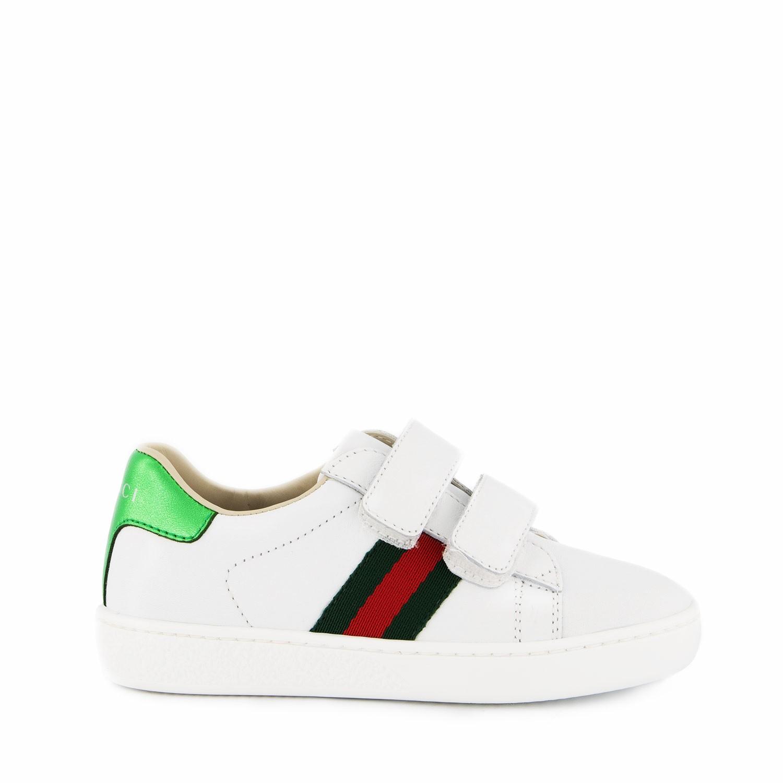 Afbeelding van Gucci 455496 CPWP0 kindersneakers wit