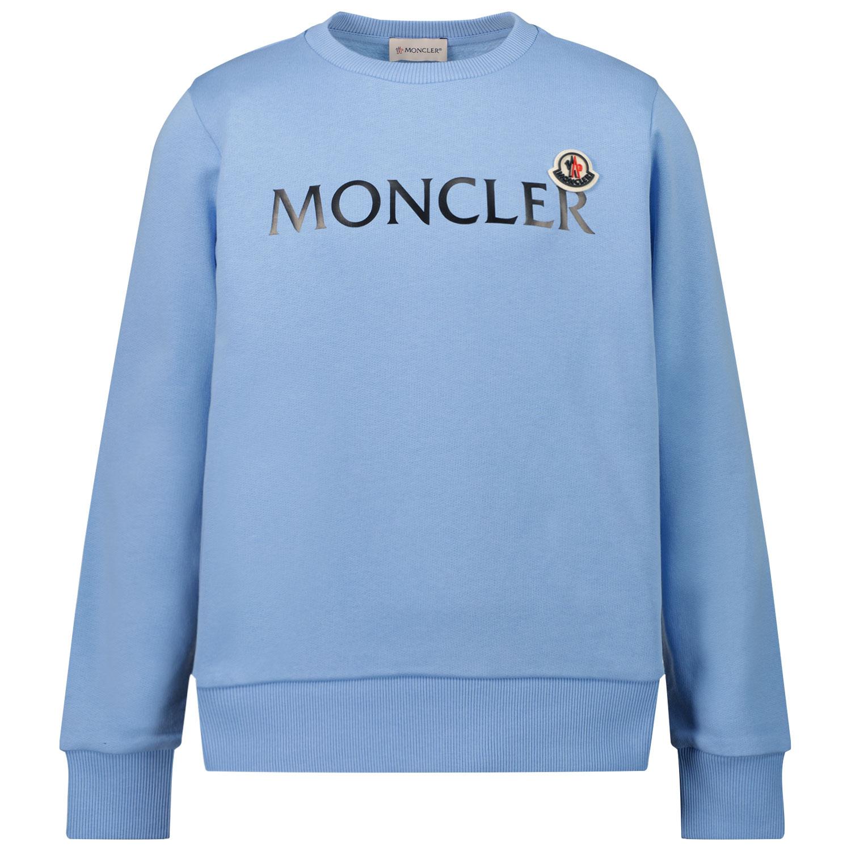 Afbeelding van Moncler 8G79700 kindertrui licht blauw