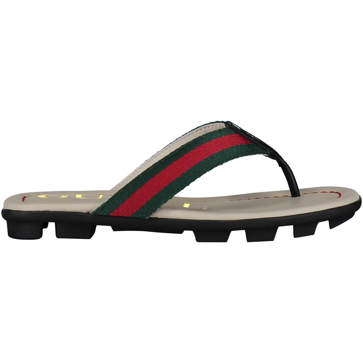 Picture of Gucci 501074 kids flipflop green