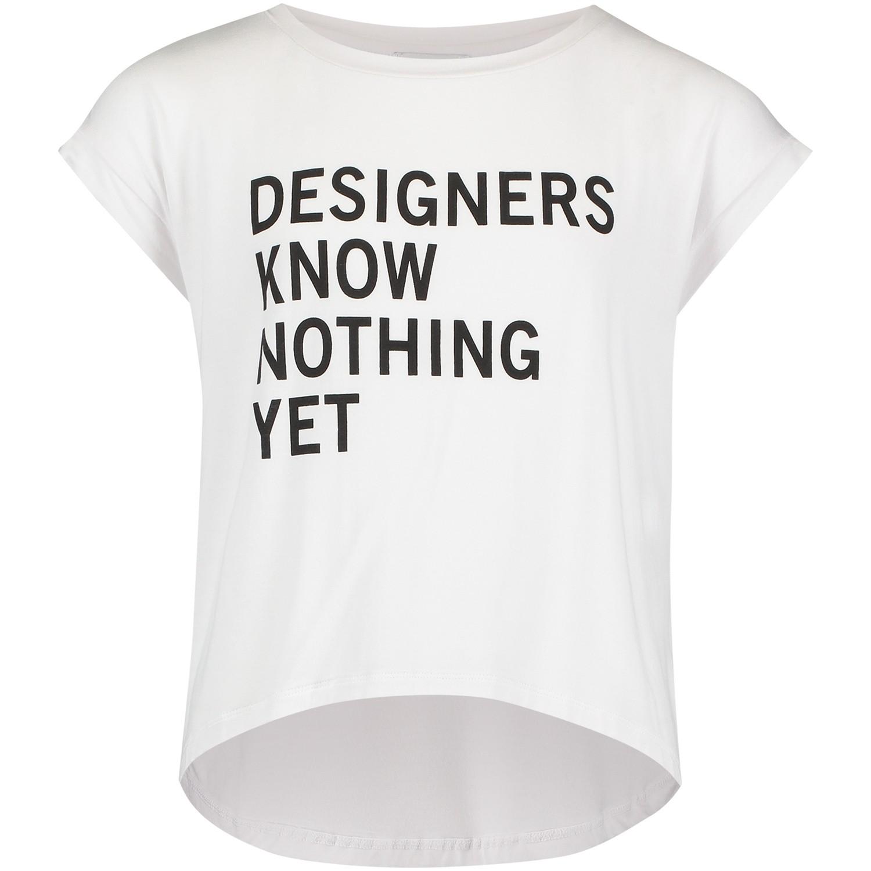 Afbeelding van DKNY D35N57 kinder t-shirt wit
