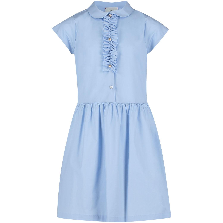 Afbeelding van Gucci 503677 meisjes jurk licht blauw