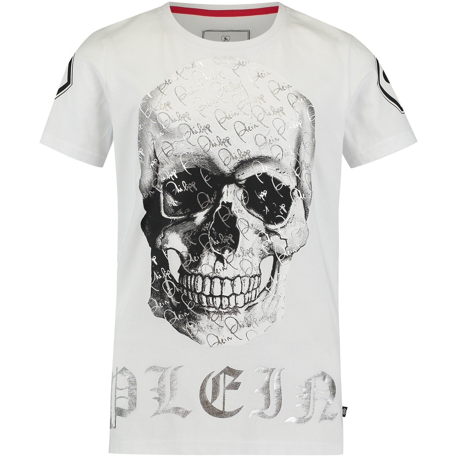 Picture of Philipp Plein BTK0347 kids t-shirt white
